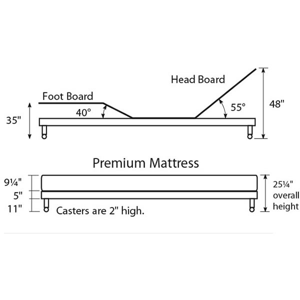 Dimensions Of Electric Hospital Bed