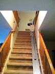 Jeremiah family stair chair lift in Bullfrog UT