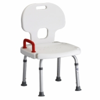 Bath Seat with Back & Red Safety Handle